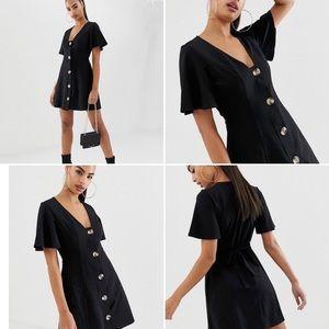 ASOS Black V-neck Mini Dress